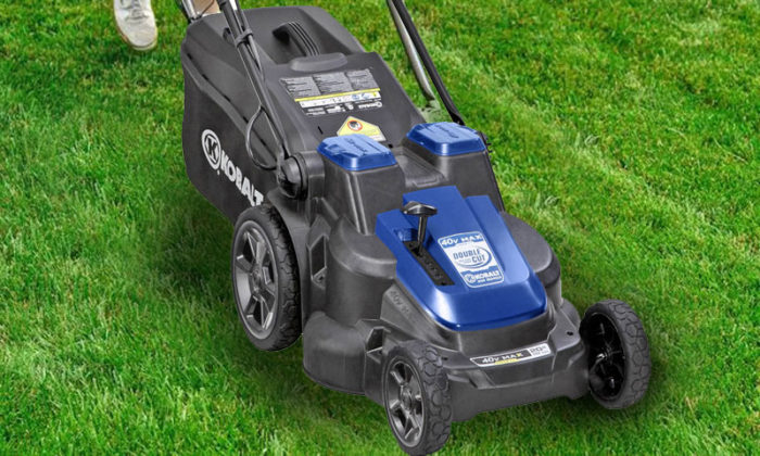 Lawn mower powered by batteries